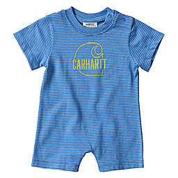 Carhartt® Logo Stripe Short Sleeve Romper in Blue