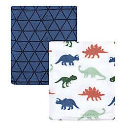 Hudson Baby® 2-Pack Dinosaur Coral Fleece Plush Blankets in Blue