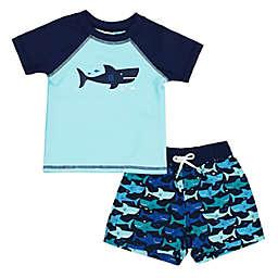 Floatimi 2-Piece Happy Shark Swim Set in Blue