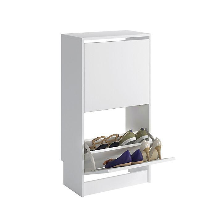 Alternate image 1 for Sauder® Tilting Door Shoe Storage in White