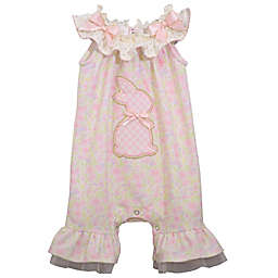 Bonnie Baby Ruffle Bunny Romper in Pink