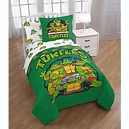 Teanage Mutant Ninja Turtles Green Bricks Full Comforter Set