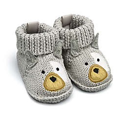 goldbug™ Crochet Knit Newborn Frenchie Booties in Grey