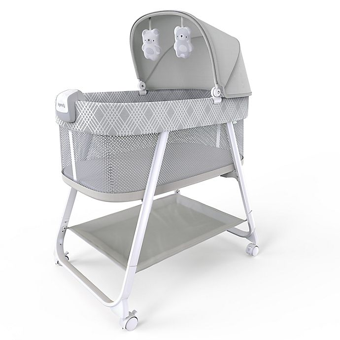 Alternate image 1 for Ingenuity™ Lullanight Soothing Bassinet in Grey