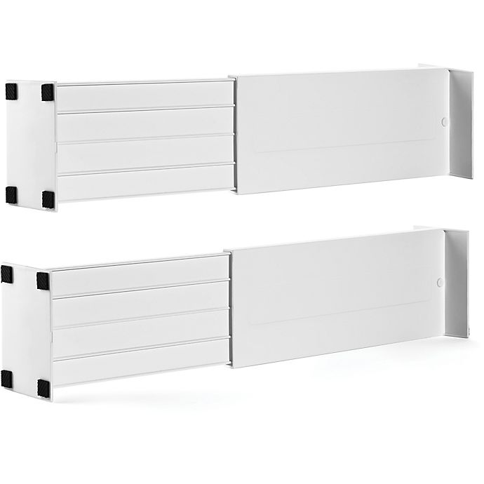 Alternate image 1 for Dream Drawer™ Expandable Spring Loaded Drawer Dividers (Set of 2)