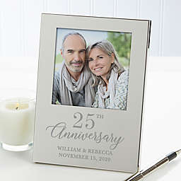 Anniversary Personalized Picture Frame in Silver