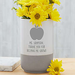 Choose Your Icon Personalized Teacher Cement Vase