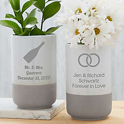 Choose Your Icon Personalized Wedding Cement Vase