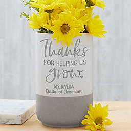 Thanks for Helping Me Grow Personalized Cement Vase