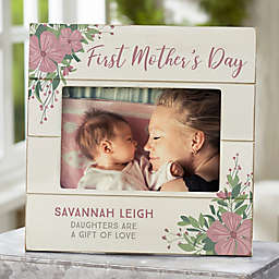 First Mother's Day Personalized Shiplap Picture Frame