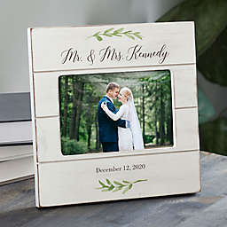 Laurels Of Love Personalized Wedding Shiplap Picture Frame