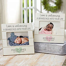 Love Is... Grandparents Personalized Shiplap Picture Frame