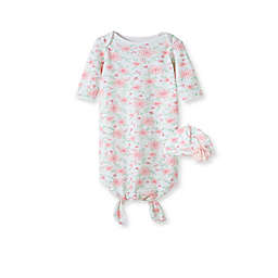 Little Me® Size 0-3M 2-Piece Garden Gown and Hat Set in Pink
