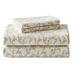 Laura Ashley® Victoria Flannel Sheet Set