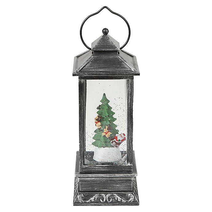 Alternate image 1 for Holiday Santa and Tree 12-Inch Plastic Christmas Lantern