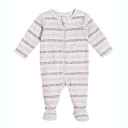 Petit Lem® Stripe Footie Pajama in Grey