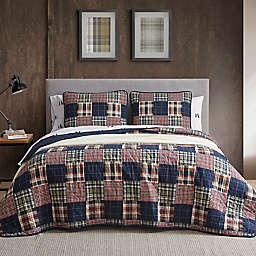 Eddie Bauer® Madrona Plaid Quilt Set in Dark Blue