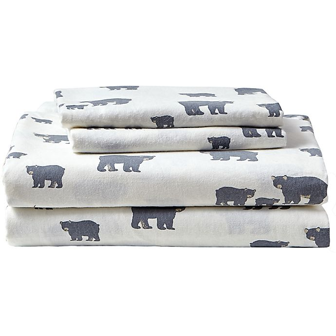 Eddie Bauer Home Bear Family Flannel Sheet Set Bed Bath Beyond