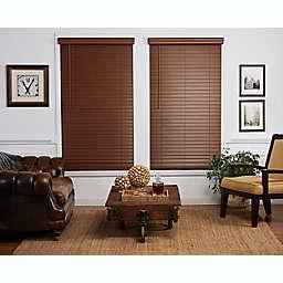 St. Charles Room Darkening 45-Inch x 72-Inch Cordless Faux Wood Blind in Dark Oak