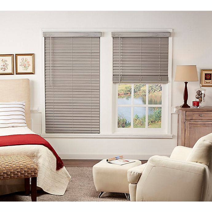 Alternate image 1 for St. Charles Room Darkening Cordless Faux Wood Blind