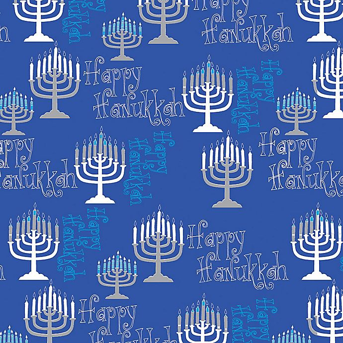 Alternate image 1 for Assorted Hanukkah Wrapping Paper