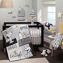 Lambs & Ivy® Classic Snoopy 3-Piece Crib Bedding Set in White