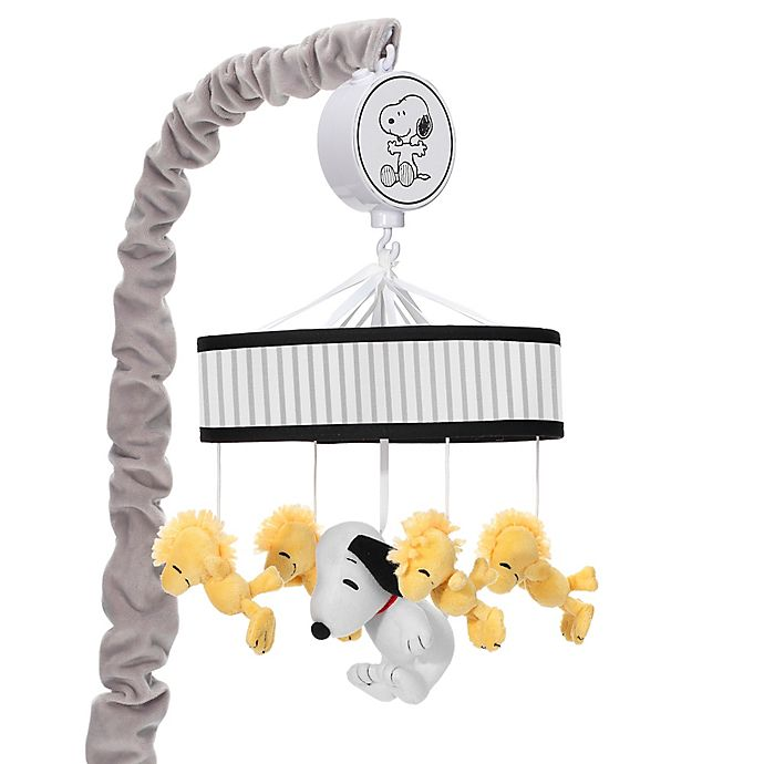 Alternate image 1 for Lambs & Ivy® Classic Snoopy Musical Mobile in Grey/White
