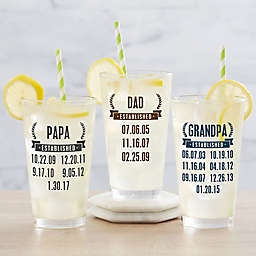 Date Established Personalized 16 oz Pint Glass