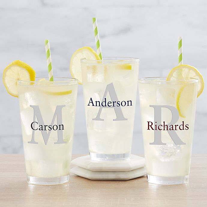 Alternate image 1 for Traditional Name and Initial 16 oz. Pint Glass