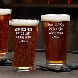 Write Your Own Personalized 16 oz. Pint Glass