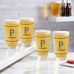 Luxury Last Name Personalized 16 oz. Pint Glass