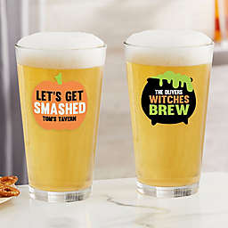 Let's Get Smashed Halloween Personalized 16 oz. Pint Glass