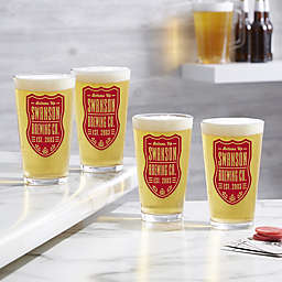 Beer Label Personalized Printed 16 oz. Pint Glass