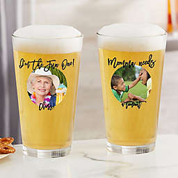 Photo Message For Her Personalized 16 oz. Pint Glass