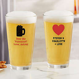 Choose Your Icon Personalized Valentines Day 16 oz. Pint Glass