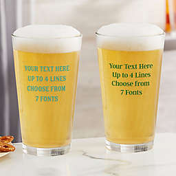 Write Your Own Printed Personalized 16 oz. Pint Glass