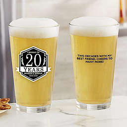 Anniversary Personalized 16 oz. Pint Glass