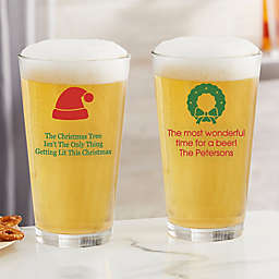 Choose Your Icon Personalized Christmas 16 oz. Pint Glass