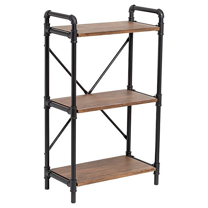 Alternate image 1 for Honey-Can-Do® Industrial Bookshelf in Rustic