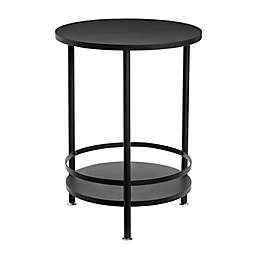 Honey-Can-Do® 2-Tier Round Accent Table in Black