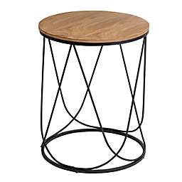 Honey-Can-Do® Round Side Table in Black