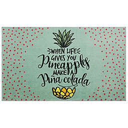"Mohawk Home® 2' x 3'4"" Prismatic Pineapples Accent Rug in Blue"