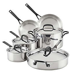 Kitchenaid® 5-Ply Clad Stainless Steel 10-Piece Cookware Set