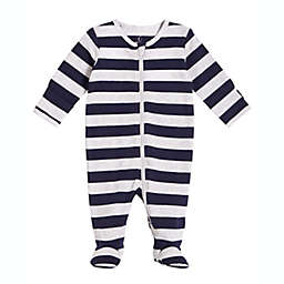 Petit Lem® Stripe Footie Pajama in Navy