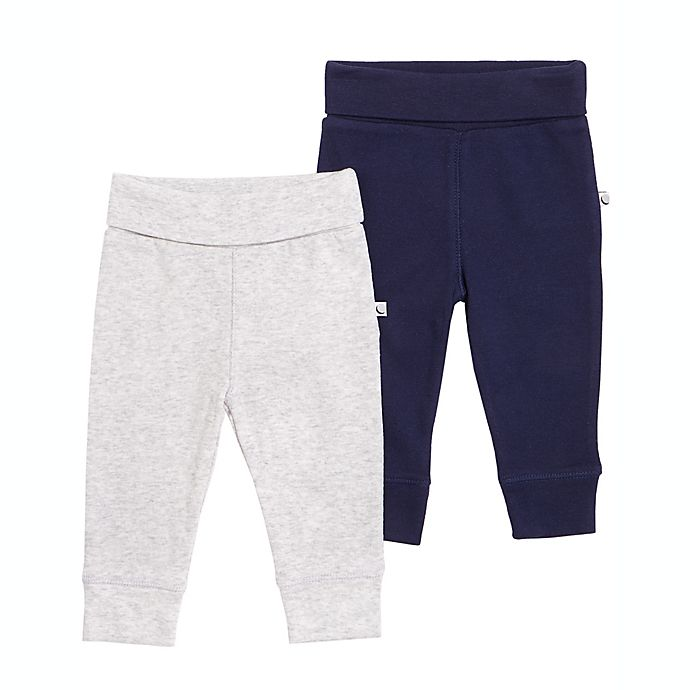 Alternate image 1 for Petit Lem™ 2-Pack Pants in Navy/Grey