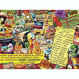 Hart Puzzles Seek & Find 500-Piece Oh, The Sights We Saw in Africa Jigsaw Puzzle