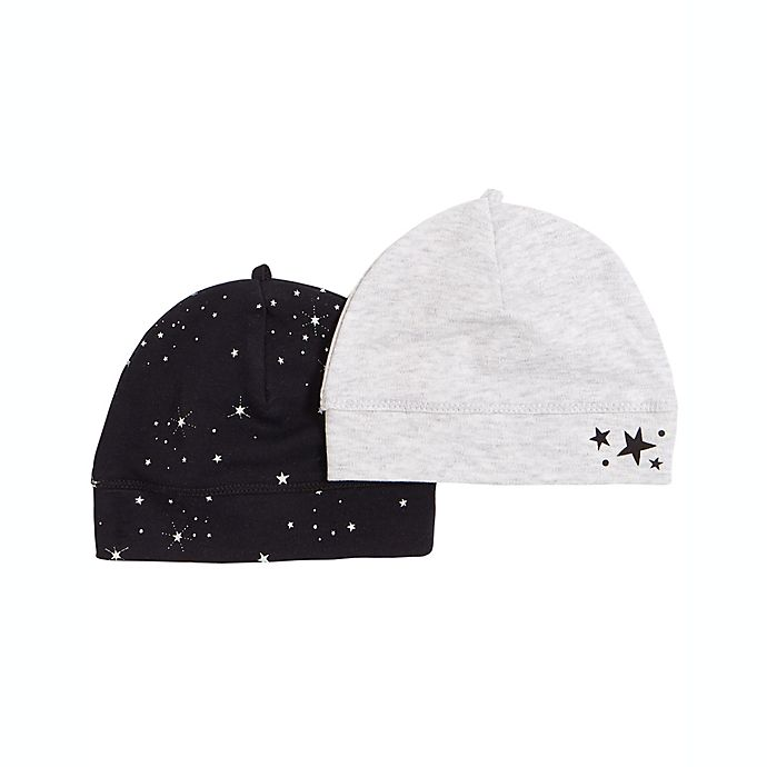 Alternate image 1 for Petit Lem® 2-Pack Star and Stripe Hats in Navy/Grey