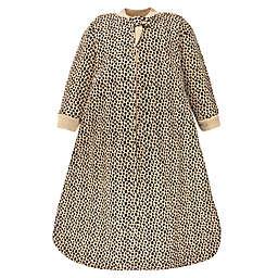 Hudson Baby® Size 0-6M Leopard Long Sleeve Wearable Blanket in Brown