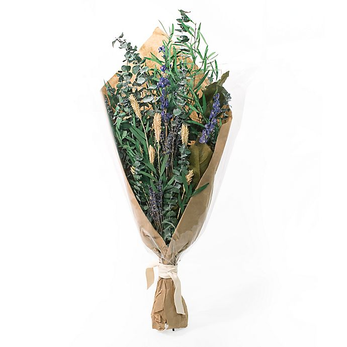 Alternate image 1 for Bee & Willow™ Home Mixed Dried Floral Bouquet in Green/Purple