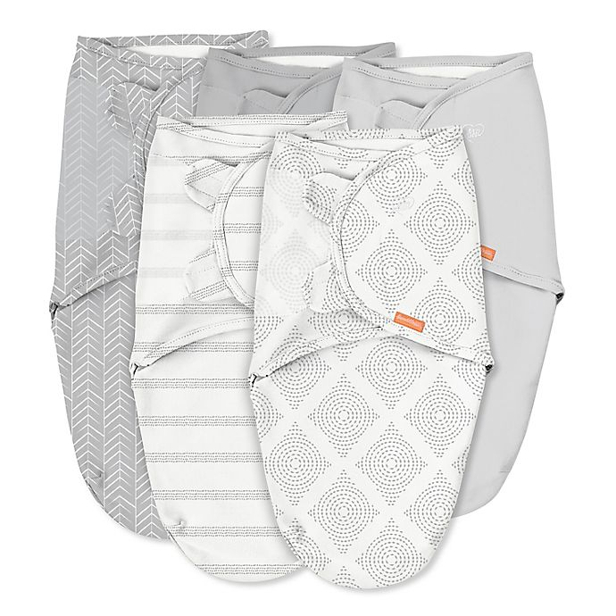 Alternate image 1 for SwaddleMe® 5-Pack Original Swaddles in Grey
